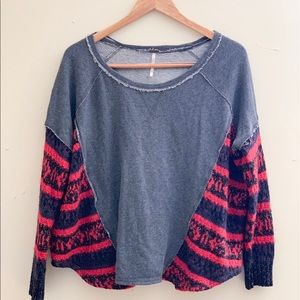 Free people • flowy striped arms sweater